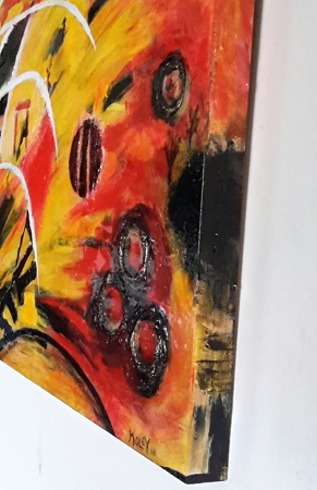 original artwork john cole abstract high gloss mixed media
